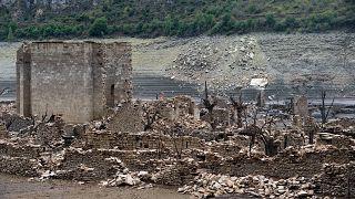 Dürre in Spanien: Ein Dorf taucht wieder auf