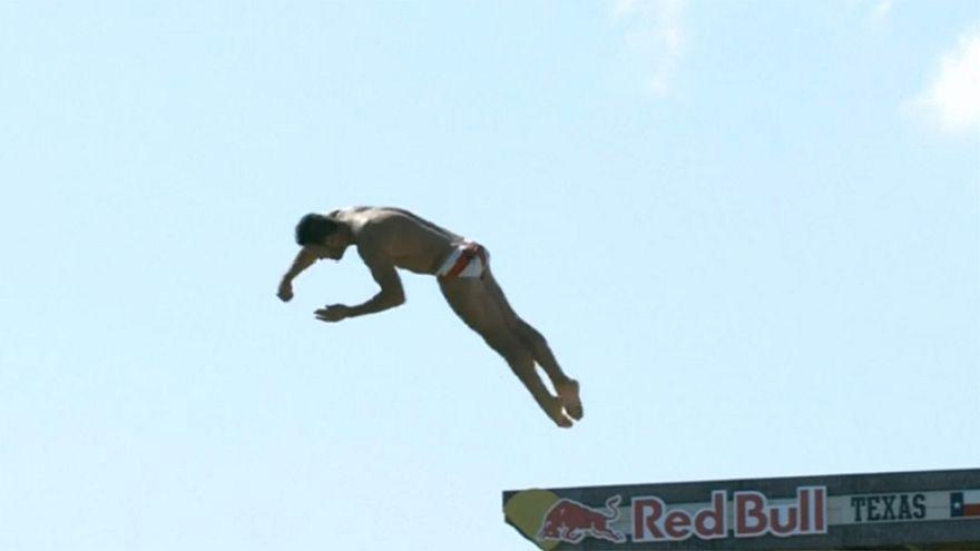 Red Bull Uçurum Atlayışı Yarışı nefesleri kesti