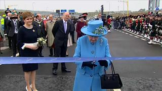 Queen officially opens UK's highest bridge in Scotland