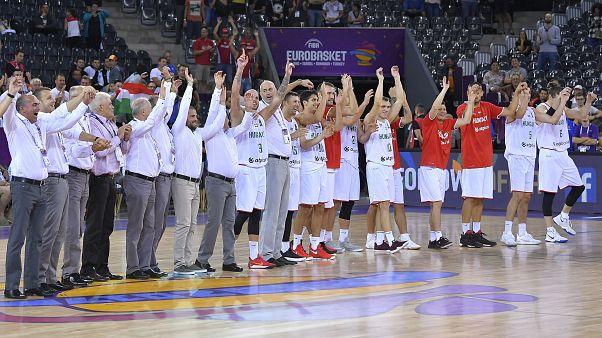 Nagyszerű győzelem a kosárlabda Eb-n