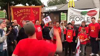 Primera huelga de los trabajadores de McDonald's en el Reino Unido