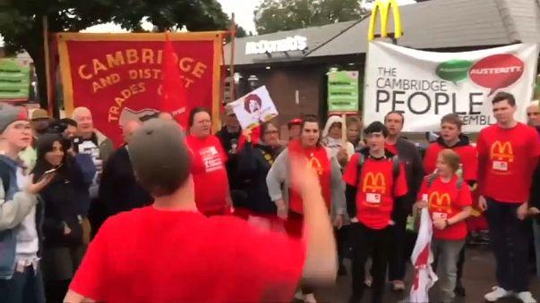 Erster Streik bei McDonald's in Großbritannien