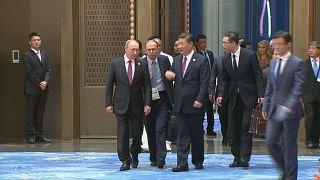 Um banquete de boas-vindas para os líderes estrangeiros na cimeira dos países do BRICS