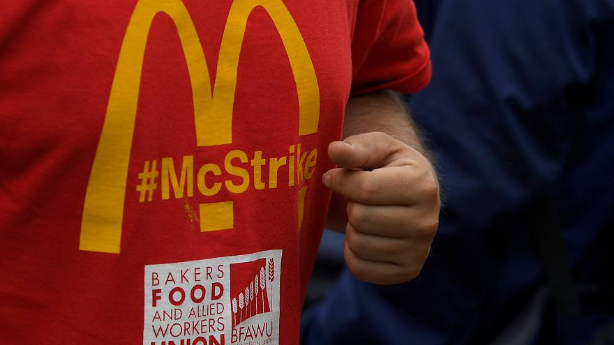 McDonald's staff strike for first time in UK