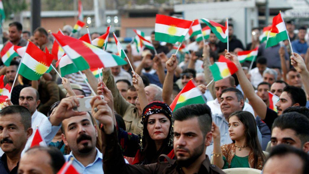 Erbil'de referandum coşkusu