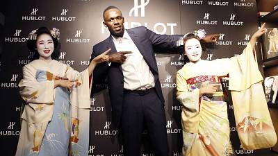 Usain Bolt visits Japan, contemplates football career