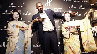 Usain Bolt visits Japan, contemplates football career