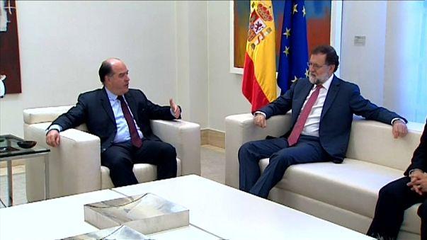 Mariano Rajoy recibe a Julio Borges en la Moncloa