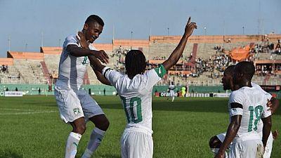 Mondial-2018: la Côte d'Ivoire surprise par le Gabon, mais toujours en tête