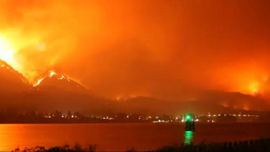 A timelapse de um incêndio devastador nos EUA