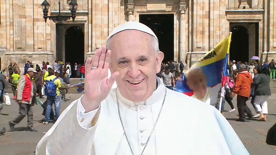 El papa Francisco, rumbo a Colombia