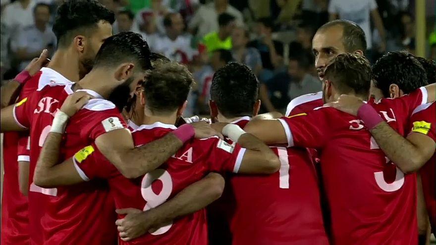 Freude bei Fußballfans in Syrien