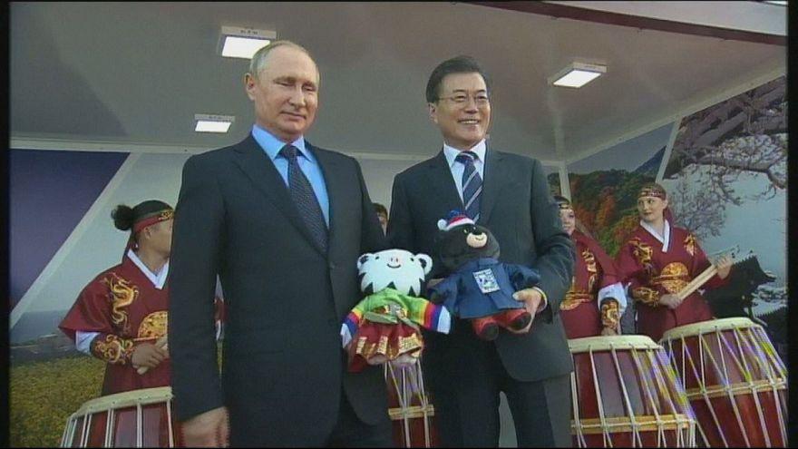 Presidente da Coreia do Sul encontra-se com Vladimir Putin