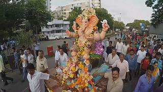 احتفال الهندوس بمهرجان غانيش شاتورثي