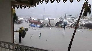 Hurricane Irma hits French Caribbean