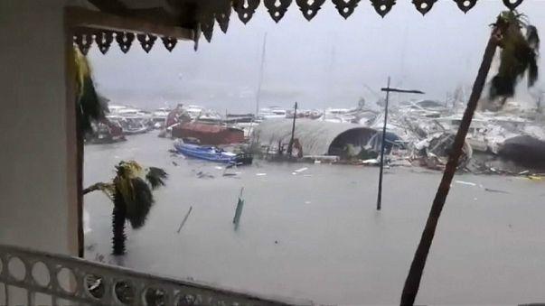 Irma letarolta a Francia Antillákat