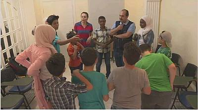 African refugees seeking safety in war-torn Syria