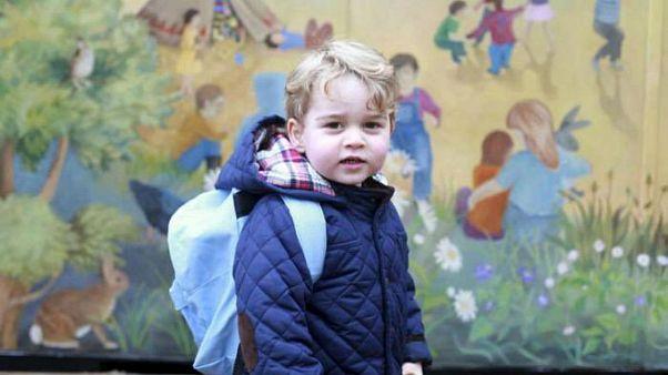 الأمير جورج يبدأ يومه الدراسي الأول