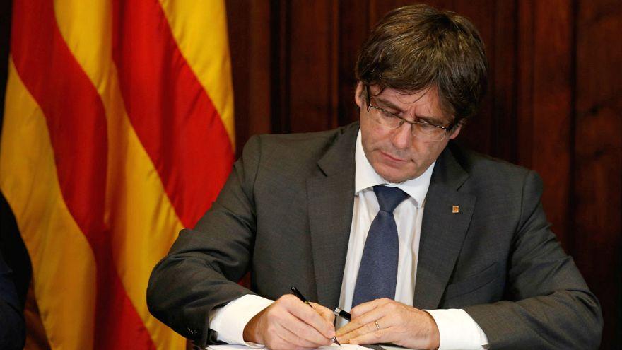 Kiírta a népszavazást a katalán elnök