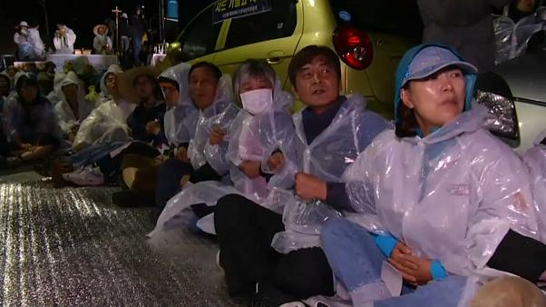 Protesters injured as THAAD deployed