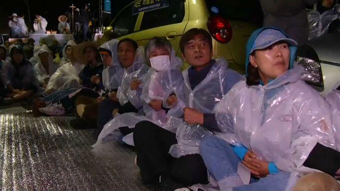 Des villageois manifestent contre le THAAD