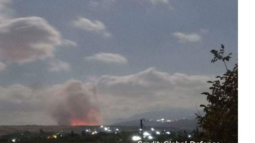 """إسرائيل تقصف """"منشأة للسلاح الكيميائي"""" قرب حماة"""