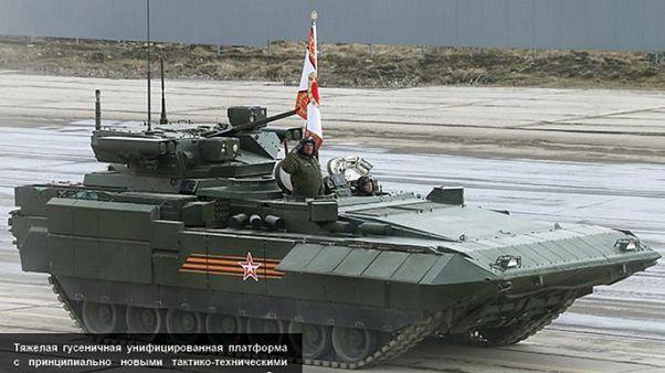 """تعرف على الدبابة الروسية الأسطورة الخارقة """" تي 14 أرماتا """""""