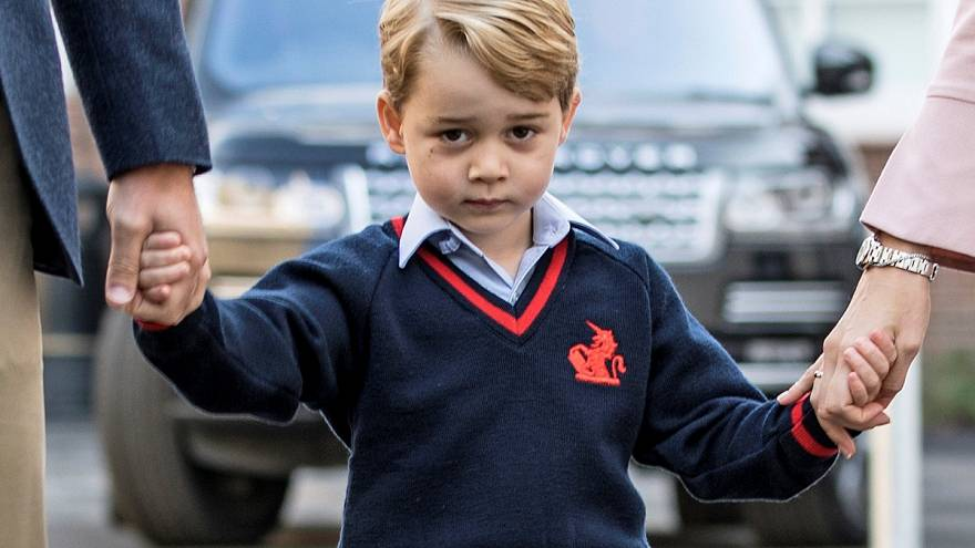 British royal Prince George has his first day at school in London