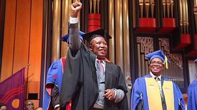 South Africa's Julius Malema overcomes 'challenge', gets second BA degree