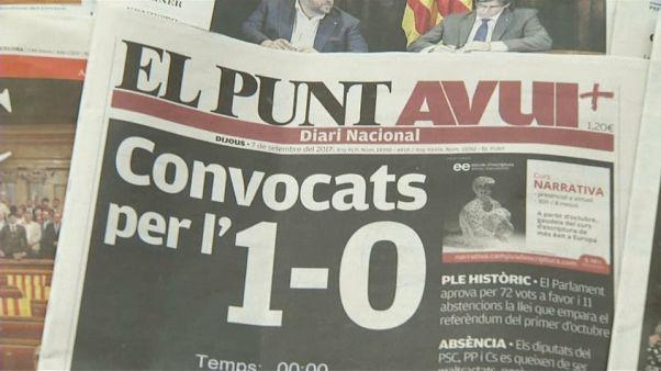 Les Espagnols partagés sur le référendum en Catalogne