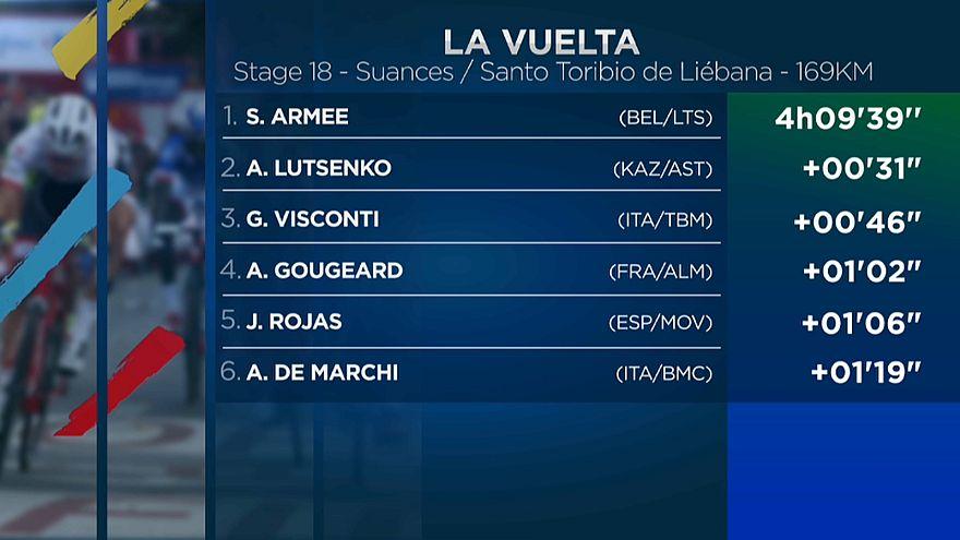 Armée se estrena en la Vuelta, Froome es más líder