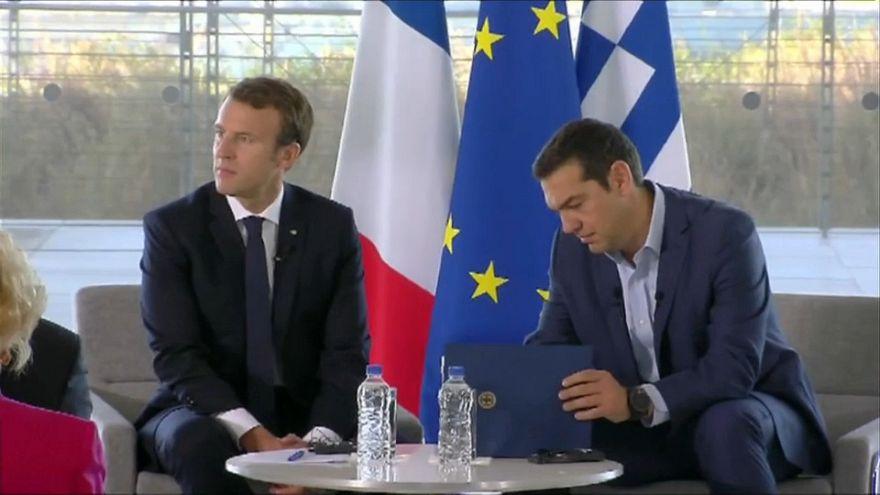 Macron et Tsipras défendent la nouvelle attractivité de la Grèce