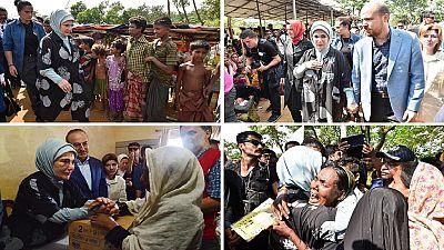 [Photos] Mrs. Erdogan sends emergency aid to Rohingyas in Bangladesh