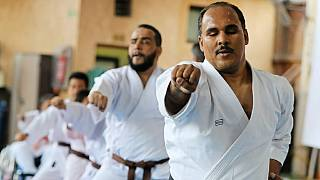 Visually impaired karate instructor aims to raise Egyptian flag high [no comment]