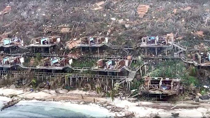 Imagens da devastação causada pelo furacão Irma nas Ilhas Virgens britânicas