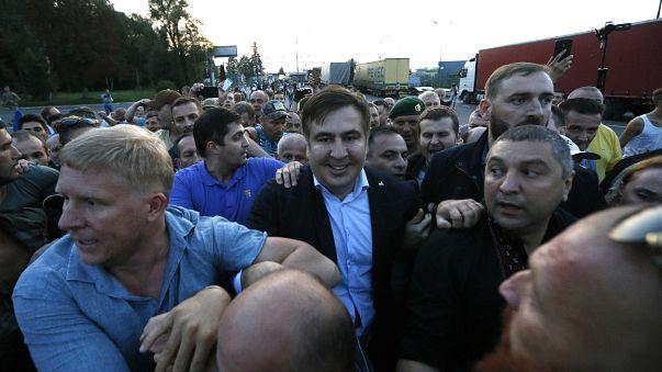 Nem engedték be Ukrajnába a volt grúz elnököt