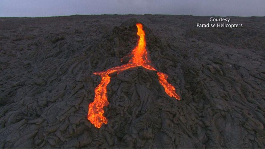 Vulcao Kilauea volta a dar espetáculo
