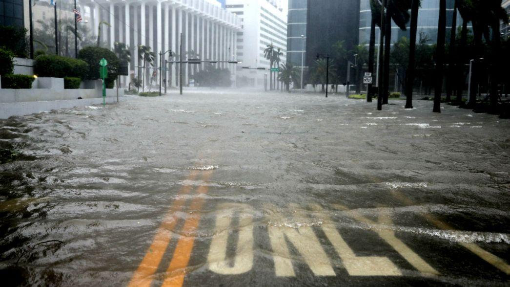 Yıkıcı Irma Kasırgası Florida kıyılarında