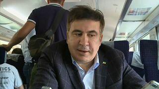 Saakaşvili'nin Ukrayna'ya girişine engel