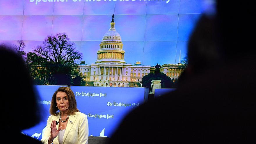 Image: House Speaker Nancy Pelosi speaks at the Washington Post Live event