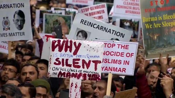 Protestos no mundo contra a perseguição de Myanmar aos rohingyas