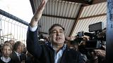 Saakashvili supporters sweep aside Ukrainian border guards to get him into the country
