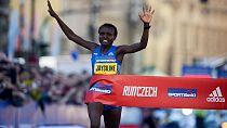 Kenya's Jepkosgei, 23, smashes 10 km road world record in Prague