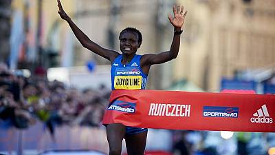 Kenya's Jepkosgei, 23, smashes 10 km road world record in Prague