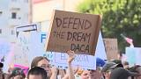 """Les """"dreamers"""" dans les rues de Washington et Los Angeles"""