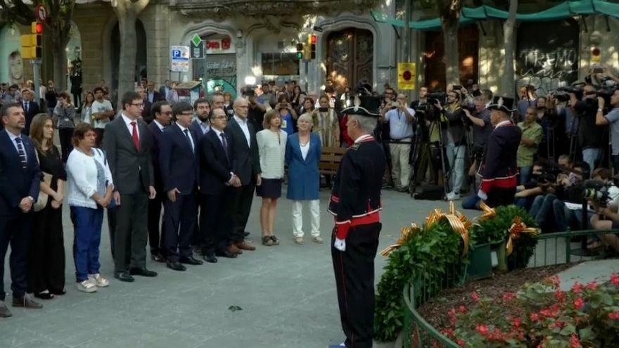 Desafío independentista en la 'Diada del Sí'