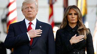Trump e Melania em minuto de silêncio em memória das vítimas do 11 de setembro