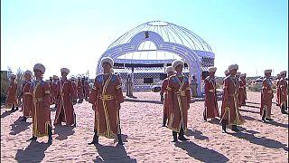 إيقاد شعلة الآلعاب القتالية الآسيوية 2017 في تركمانستان