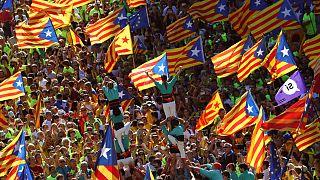 Barcellona in piazza per l'indipendenza catalana