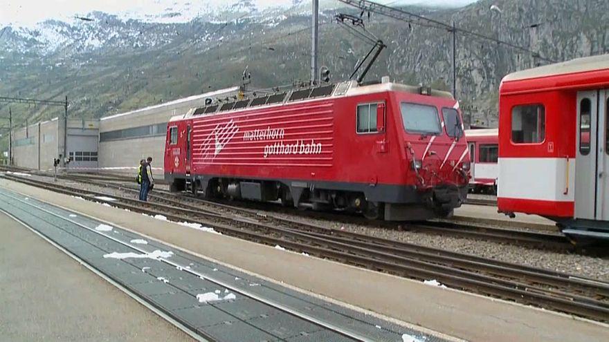 Schweiz: Zug-Unfall in Andermatt mit Verletzten